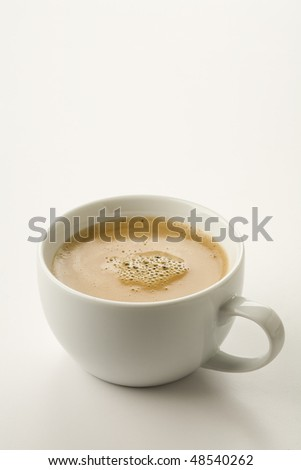 Espresso with crema isolated on  white - stock photo