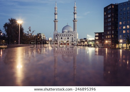 Essalam Mosque. Rotterdam, South Holland, Netherlands - stock photo