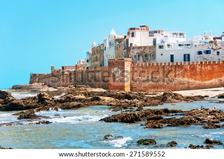 Essaouira is a city and port on the Atlantic coast in Morocco, North Africa - stock photo