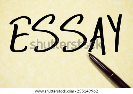 essay word write on paper  - stock photo
