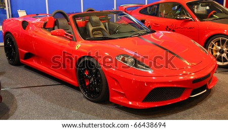 ESSEN - NOV 26: Tuned Ferrari Cabrio F430 shown on November 26, 2010 in Essen, Germany.