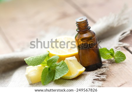 Essential aroma oil - stock photo