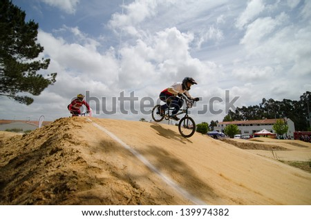 ESTARREJA, PORTUGAL - MAY 26: Andrian Moldovan at the 2nd Portugal Bmx Open on may 26, 2013 in Estarreja, Portugal.