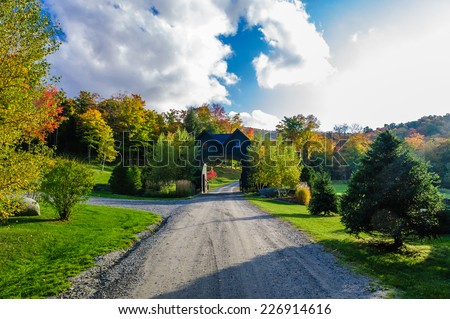 Estate entry gate-house, Stowe, Vermont, USA - stock photo