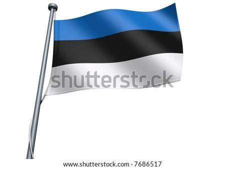 Estonia Flag - stock photo