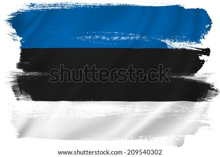 Estonia flag backdrop background texture. - stock photo