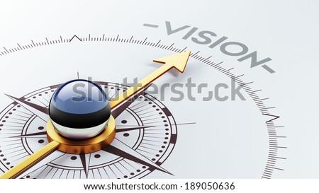 Estonia High Resolution Vision Concept - stock photo