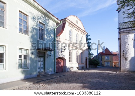 ESTONIA - JULY 22, 2017: Toom-Kooli street near Dome Church in Tallinn, circa 2017