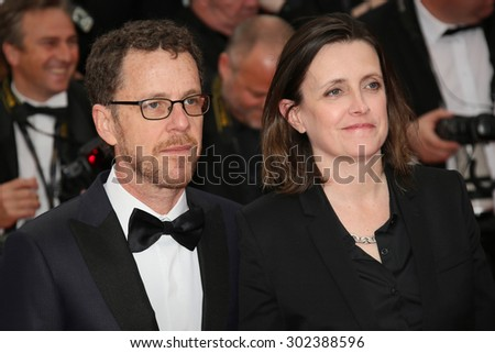 Ethan Coen & Tricia Cooke attends the 'Macbeth' Premiere during the 68th annual Cannes Film Festival on May 23, 2015 in Cannes, France.