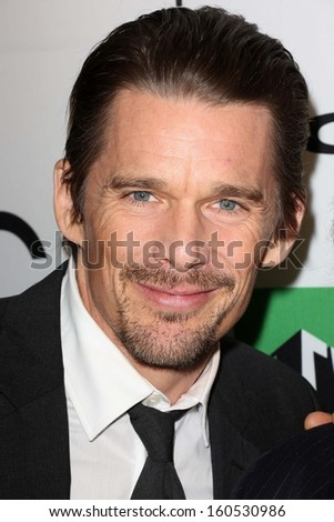 Ethan Hawke at the 17th Annual Hollywood Film Awards Backstage, Beverly Hilton Hotel, Beverly Hills, CA 10-21-13 - stock photo