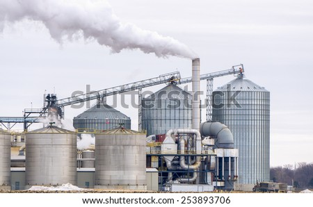 Ethanol Refinery in the American Midwest - stock photo