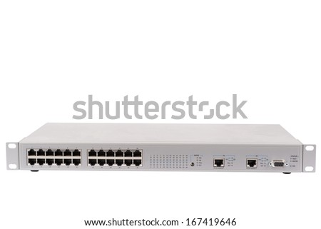 ethernet switch - stock photo