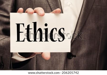 Ethics concept - stock photo
