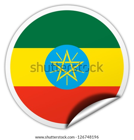 Ethiopia flag sticker