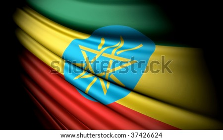 Ethiopia - This is an illustration of flag - stock photo