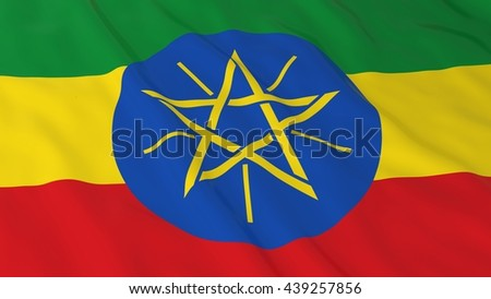 Ethiopian Flag HD Background - Flag of Ethiopia 3D Illustration