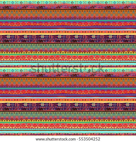 Ethnic boho seamless pattern. Tribal art print. Background texture, wallpaper