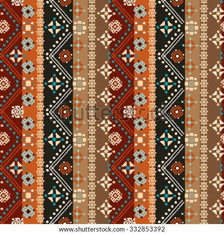 Ethnic Boho Seamless Pattern Tribal Art Stock Illustration
