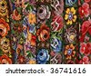 Ethnic Mexican handmade women's belts - stock photo