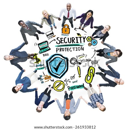 Ethnicity People Team Security Protection Support Concept - stock photo