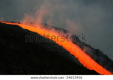 Etna Eruption - stock photo