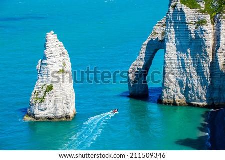 Etretat France - stock photo