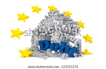 EU Debt - stock photo