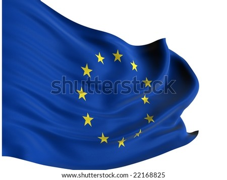 EU flag of united Europe isolated