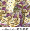 Euro abstract background - stock photo
