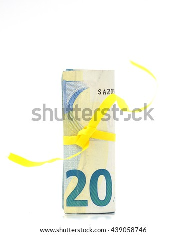 Euro banknote - stock photo