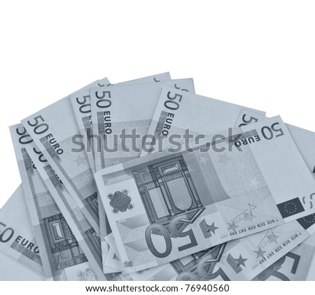 Euro banknote (currency of the European Union)