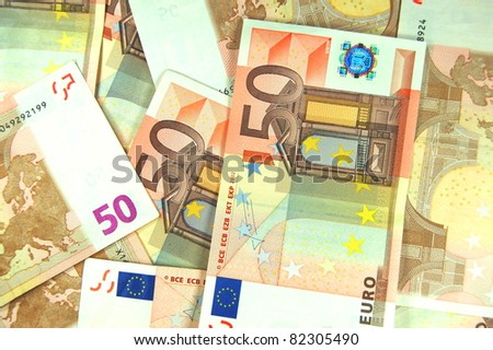 euro banknotes - stock photo