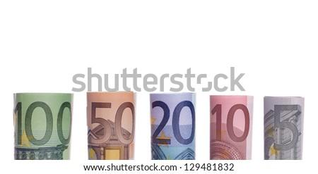 Euro banknotes / euro money - stock photo