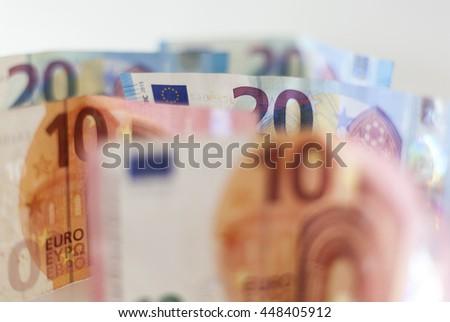 Euro banknotes money - stock photo
