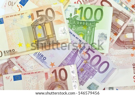 Euro banknotes, the European currency - stock photo