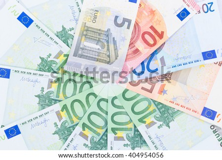 Euro bills carpet - stock photo