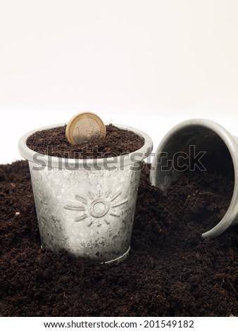 Euro coin  - stock photo