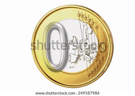 Euro coin, close up - stock photo