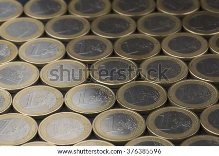 Euro coins close up composition - stock photo