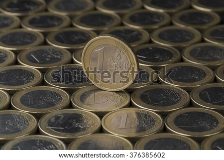 Euro coins close up composition