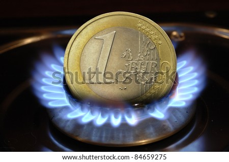 euro crisis and energy costs - stock photo