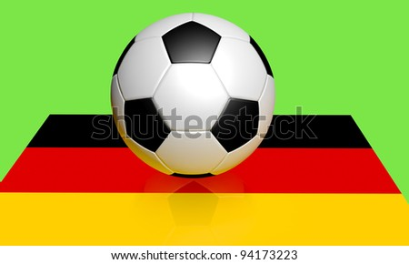 Euro 2012 football and Germany flag