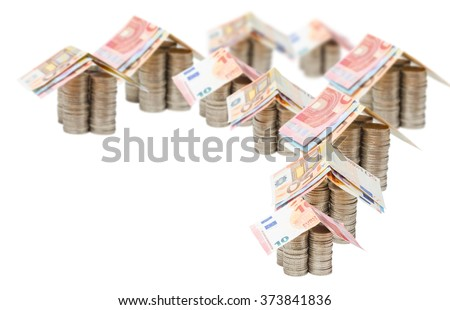Euro, Homes, Investment, Real Estate - stock photo