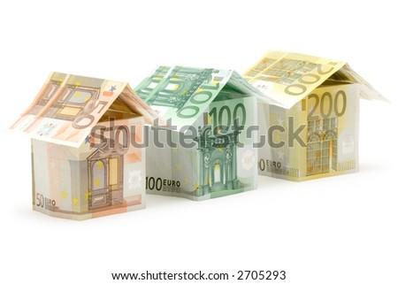 Euro Houses - stock photo