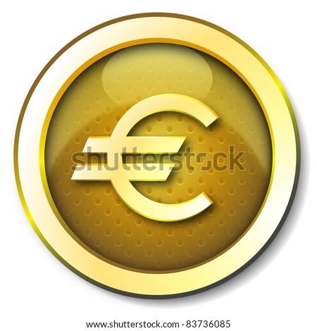 Euro icon - stock photo