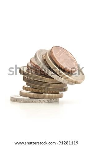 Euro instability - stock photo