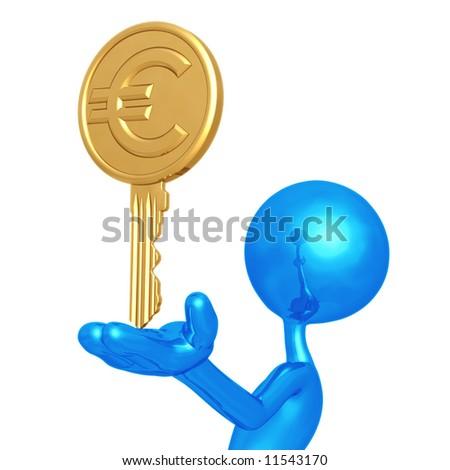 Euro Key - stock photo