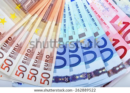 euro money banknotes - stock photo