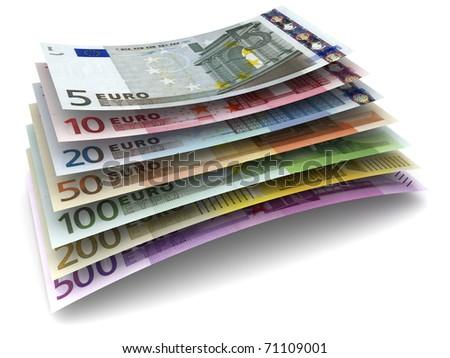 Euro Money Banknotes - stock photo