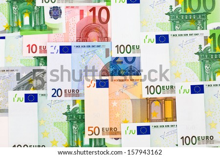 Euro money banknotes - abstract business background - stock photo